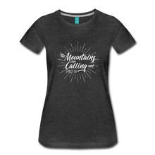Load image into Gallery viewer, Women's Mountain Calling T-Shirt (white) - charcoal gray