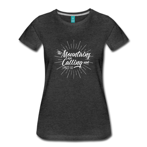 Women's Mountain Calling T-Shirt (white) - charcoal gray