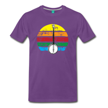 Load image into Gallery viewer, Men's Banjo Rainbow T-Shirt - purple