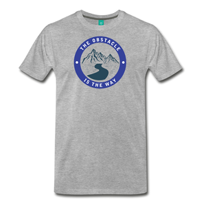 Men's Obstacle is the Way T-Shirt - heather gray