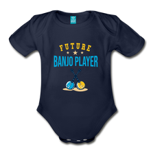 Load image into Gallery viewer, Future Banjo Player Baby Bodysuit - dark navy