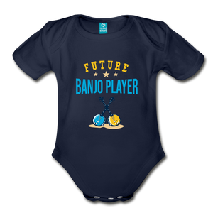 Future Banjo Player Baby Bodysuit - dark navy