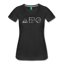Load image into Gallery viewer, Women's Horse Symbols T-Shirt - black