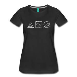 Women's Horse Symbols T-Shirt - black
