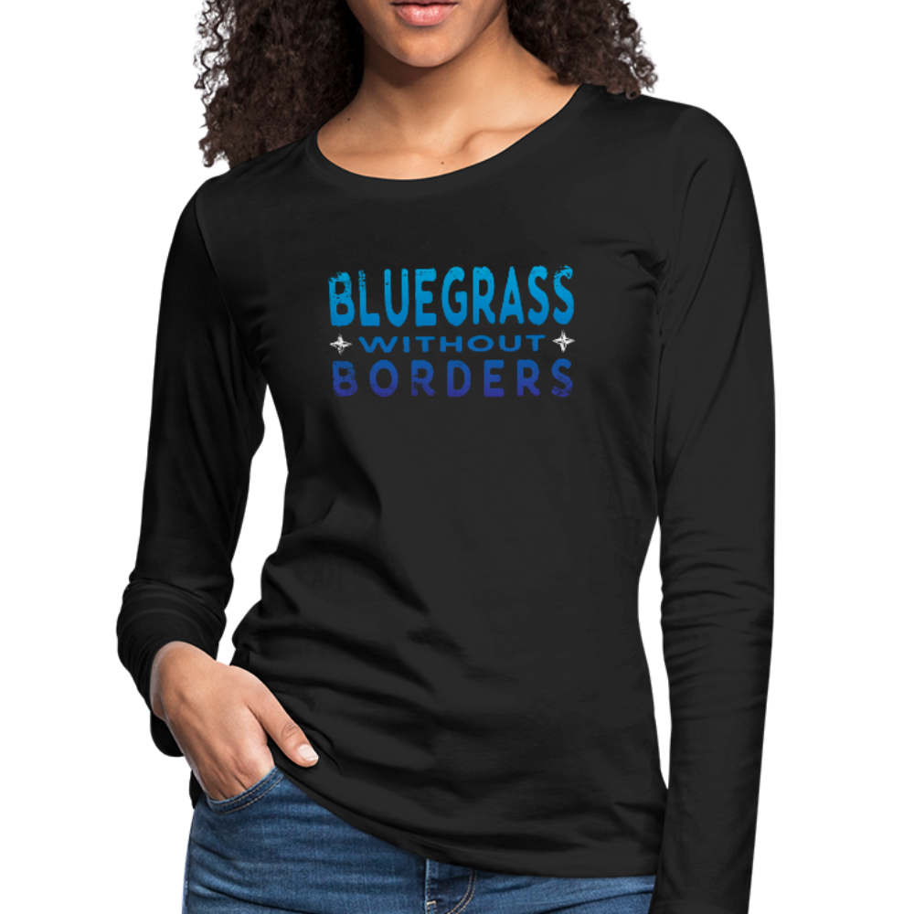 Women's Bluegrass without Borders Long Sleeve T-Shirt - black