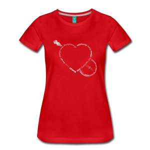 Women's Bnajo Heart T-Shirt - red