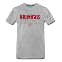Load image into Gallery viewer, Men's Bluegrass is the Soul T-Shirt - heather gray