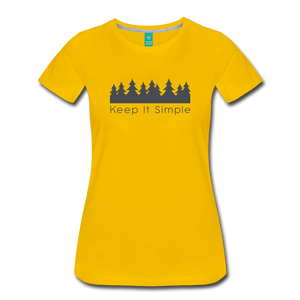 Women's Keep It Simple T-Shirt - sun yellow