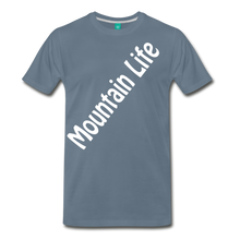 Load image into Gallery viewer, Men's Diagonal Mountain Life T-Shirt - steel blue