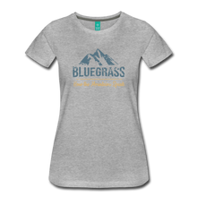Load image into Gallery viewer, Women's Bluegrass Mountains Speak T-Shirt - heather gray