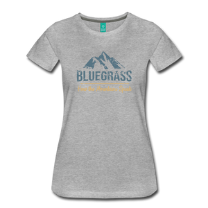 Women's Bluegrass Mountains Speak T-Shirt - heather gray