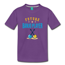 Load image into Gallery viewer, Toddler Future Banjo Player T-Shirt - purple