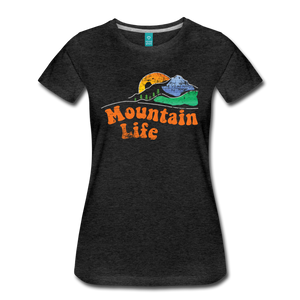 Women's 60s Mountain T-Shirt - charcoal gray