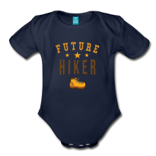 Load image into Gallery viewer, Future Hiker Baby Bodysuit - dark navy