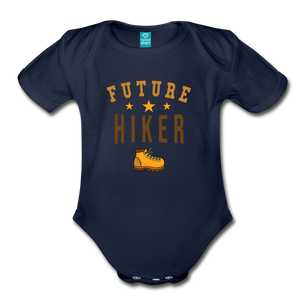 Future Hiker Baby Bodysuit - dark navy
