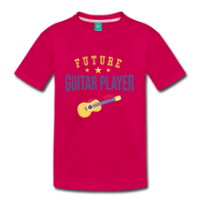 Load image into Gallery viewer, Kids' Guitar Player T-Shirt - dark pink