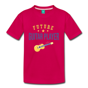 Kids' Guitar Player T-Shirt - dark pink
