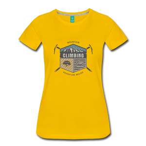 Women's Climbing T-Shirt - sun yellow
