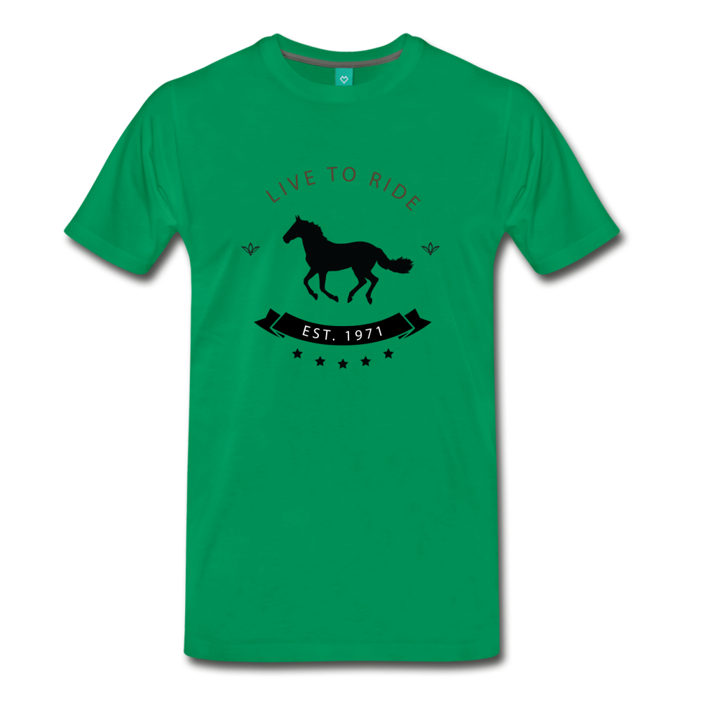 Men's Live to Ride T-Shirt - kelly green