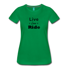 Load image into Gallery viewer, Women's Live Lover Ride T-Shirt - kelly green