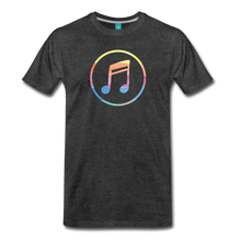 Load image into Gallery viewer, Men's Colored Music Note T-Shirt - charcoal gray
