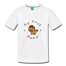 Load image into Gallery viewer, Kids' My First Pony T-Shirt (light brown) - white