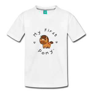 Kids' My First Pony T-Shirt (light brown) - white