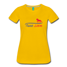 Load image into Gallery viewer, Women's True Love T-Shirt - sun yellow