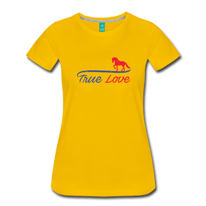 Women's True Love T-Shirt - sun yellow