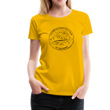 Load image into Gallery viewer, Women's Followed My Heart (distressed) T-Shirt - sun yellow