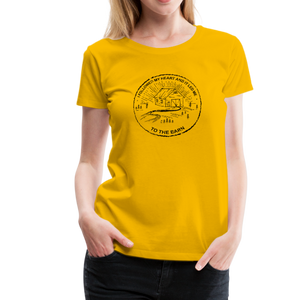 Women's Followed My Heart (distressed) T-Shirt - sun yellow