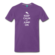 Load image into Gallery viewer, Men's Keep Calm and Jump On T-Shirt - purple