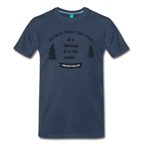 Men's Between Every Two Pines T-Shirt - navy