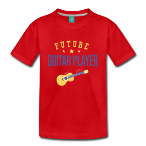 Kids' Guitar Player T-Shirt - red