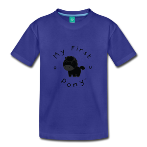 Kids' My First Pony T-Shirt (black) - royal blue