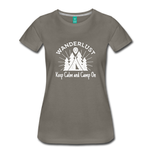 Load image into Gallery viewer, Women's Keep Calm, Camp On (white) - asphalt