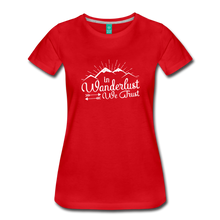 Load image into Gallery viewer, Women's Wanderlust T-Shirt (white) - red
