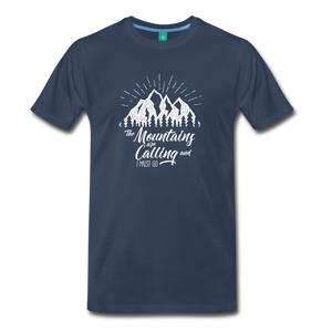 Men's Mountains T-Shirt (white) - navy