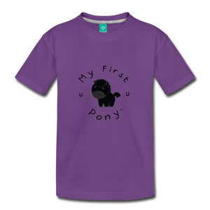 Toddler My First Pony T-Shirt (black) - purple