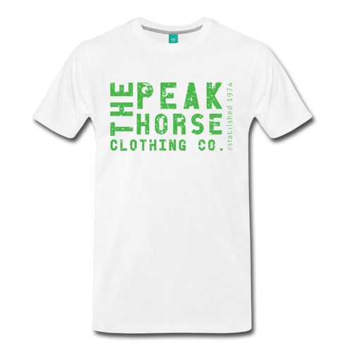 Men's The Peak Horse Clothing Co. (block) T-Shirt - white