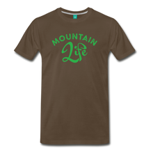 Load image into Gallery viewer, Men's Mountain Life (script) T-Shirt - noble brown