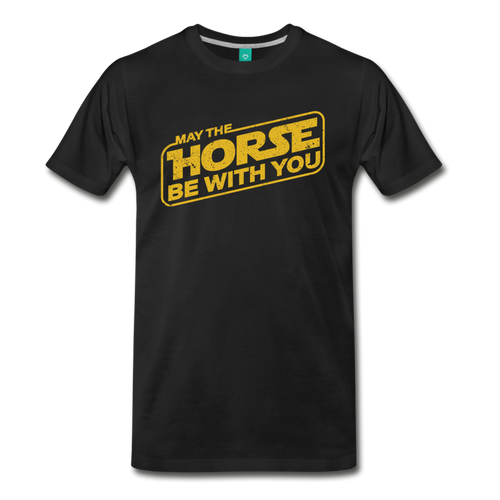 Men's May The Horse be with You T-Shirt - black