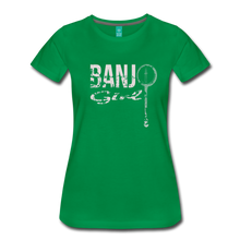 Load image into Gallery viewer, Women's Banjo Girl T-Shirt - kelly green