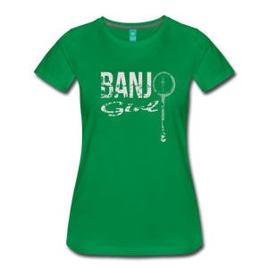 Women's Banjo Girl T-Shirt - kelly green