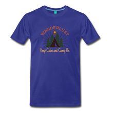 Load image into Gallery viewer, Men's Keep Calm, Camp On - royal blue