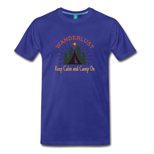 Men's Keep Calm, Camp On - royal blue