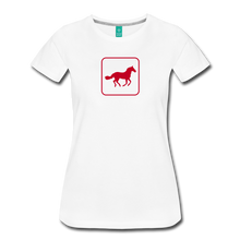 Load image into Gallery viewer, Women's Horse Icon T-Shirt - white