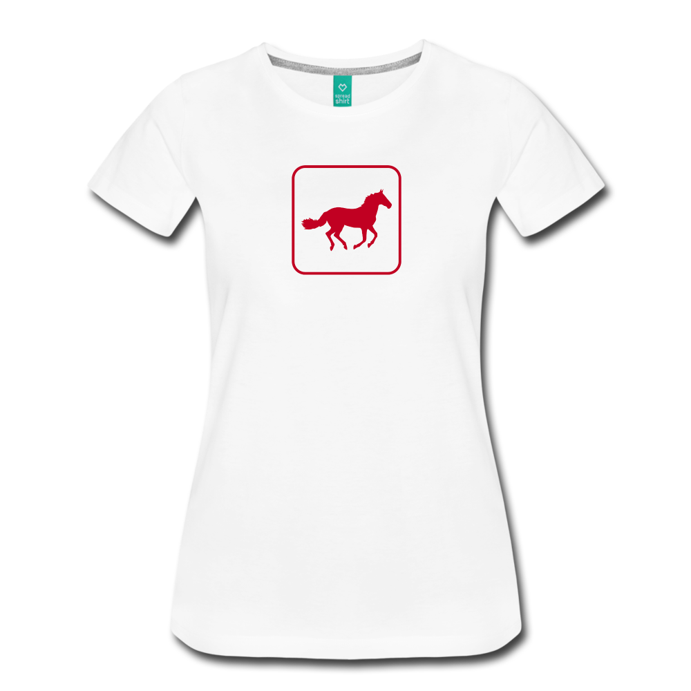 Women's Horse Icon T-Shirt - white