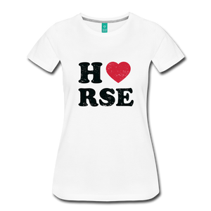 Women's Horse Large Letters T-Shirt - white