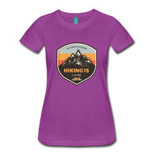 Load image into Gallery viewer, Women's Hiking T-Shirt - light purple